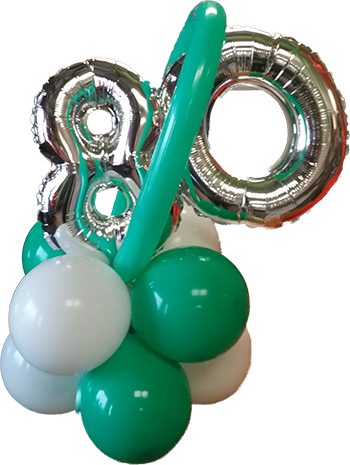 -80th Balloon Bunch 350