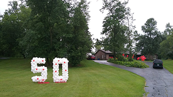 -Yard Numbers 50th