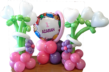 Custom Balloon and Flower Bunches