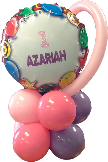 Custom Glitter Balloon Bunch