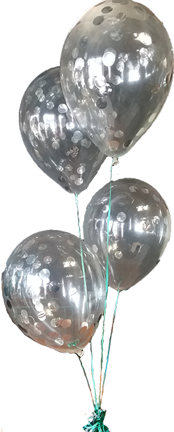 Polkadot balloons
