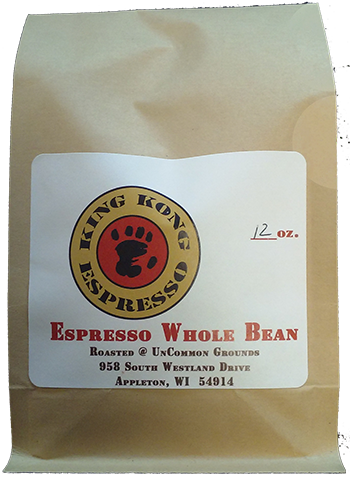 Espresso whole bean coffee bag