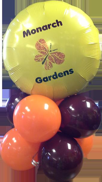 Custom Balloon Glitter Logo Bunch