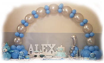 Blue table arch